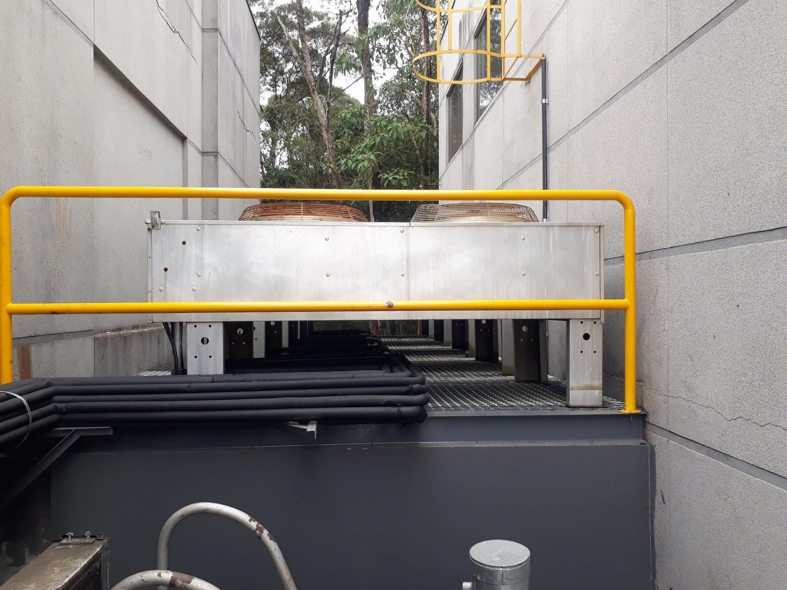 Remanejamento de condensadoras para plataforma metálica